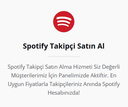 Spotify Takipçi Satın Al