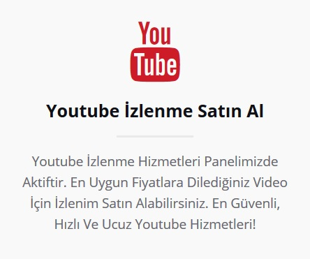 youtube izlenme