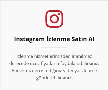 instagram izlenme satın al